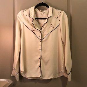 Zara Collection Pajama Style Blouse
